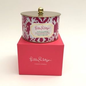 Lilly Pulitzer Jungle Scent Three wick Candle